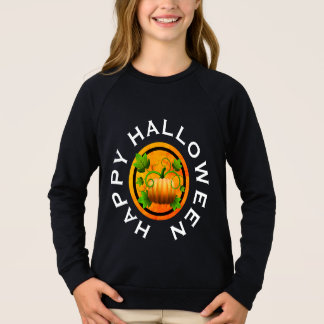 Sweatshirt Chemise orange de Halloween de citrouille