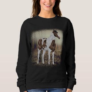 Sweatshirt Cheval de peinture de Tobiano de peau de daim
