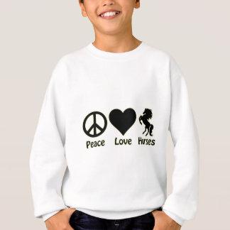 Sweatshirt Chevaux d'amour de paix