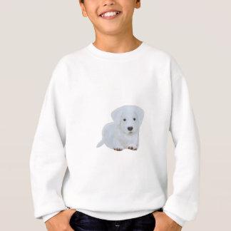 Sweatshirt Chien heureux de blanc de chiot de bébé mignon