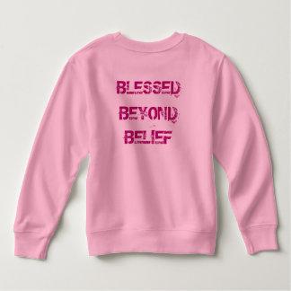 Sweatshirt Chrétien béni au delà de la croyance