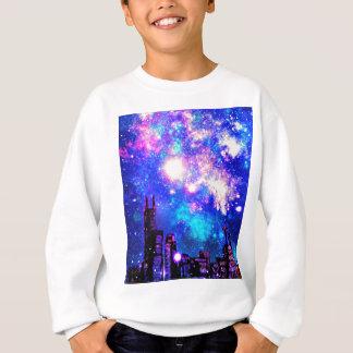 Sweatshirt Ciel nocturne de style d'horizon comique de ville