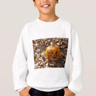 Sweatshirt Citrouille de Jack-o'-lantern dans le feuille