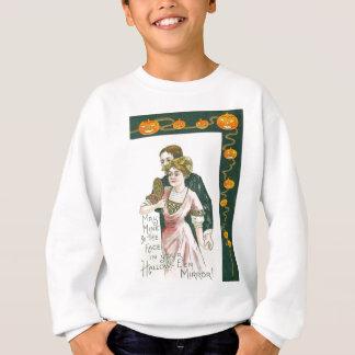 Sweatshirt Citrouille de Jack-o'-lantern de mariage de miroir