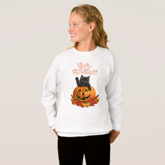 Sweatshirt Citrouille Kitty