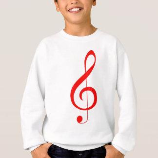 Sweatshirt Clef triple rouge