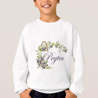 Sweatshirt coeur avec le peyton de fleurs