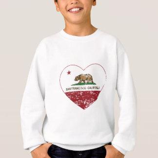 Sweatshirt coeur de San Francisco de drapeau de la Californie