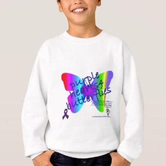 Sweatshirt Coeurs pourpres 4 produits de papillons