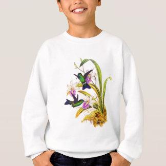 Sweatshirt Colibris et orchidées pourpres