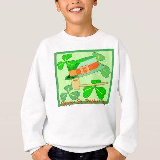 Sweatshirt Collage du jour de St Patrick heureux
