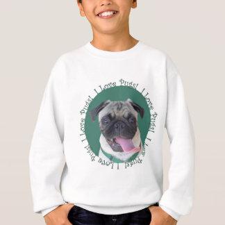 Sweatshirt Conception mignonne de chien de carlins d'amour