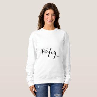 Sweatshirt Cool Stylish2 à la mode élégant noir et blanc de