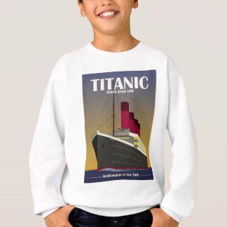 Sweatshirt Copie titanique d'art déco de revêtement d'océan
