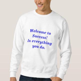 Sweatshirt de blanc d'hommes