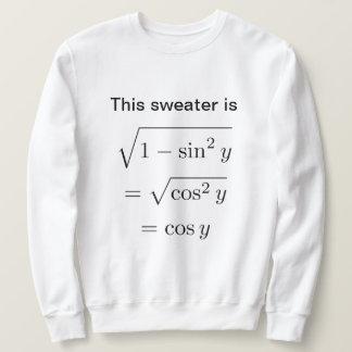 Sweatshirt de calembour des maths des hommes