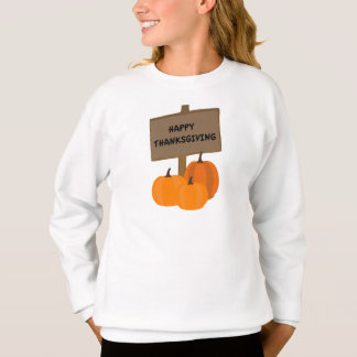 Sweatshirt de citrouilles de thanksgiving