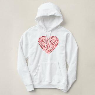 Sweatshirt de coeur de chat de jour de Valentines