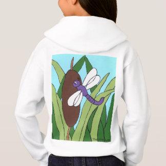 Sweatshirt de libellule, libellule pourpre