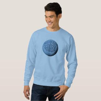 Sweatshirt de lune de MST3K (bleu-clair)