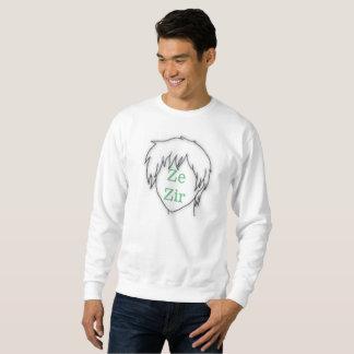 Sweatshirt de pronom de Ze Zir d'Anime
