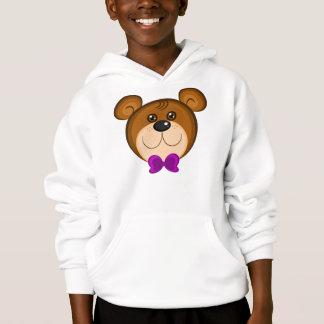 Sweatshirt de visage d'ours de nounours