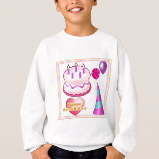 Sweatshirt Décorations de ballon de gâteau de HappyBIRTHDAY
