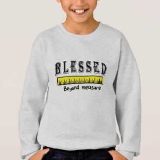 Sweatshirt Démesurément reconnaissant positif chrétien béni