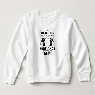 Sweatshirt d'enfant en bas âge d'injustice