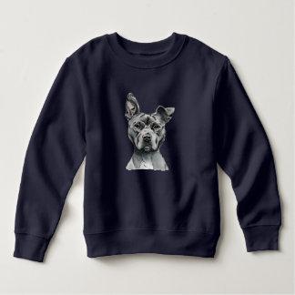 Sweatshirt Dessin Stalky de chien de pitbull