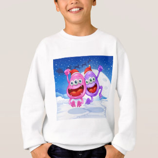 Sweatshirt Deux monstres célébrant Noël
