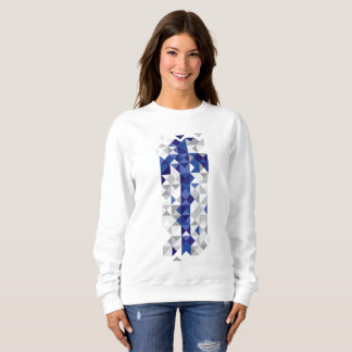 Sweatshirt Drapeau abstrait de la Finlande, couleurs