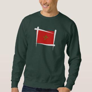 Sweatshirt Drapeau de brosse du Maroc