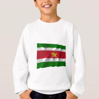 Sweatshirt Drapeau de ondulation du Surinam