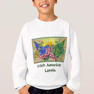 Sweatshirt drapeaux américains irlandais