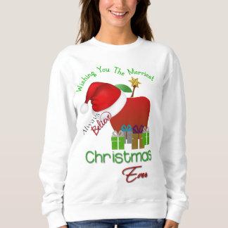 Sweatshirt du plus Joyeux Noël du professeur