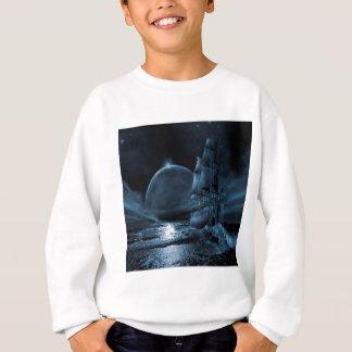 Sweatshirt Éclipse foncée de bateau d'imaginaire abstrait