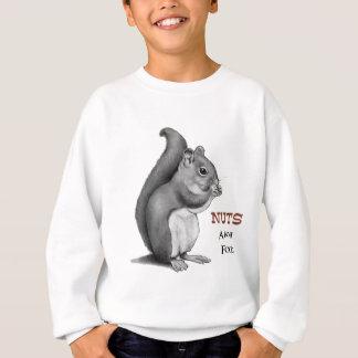 Sweatshirt Écrous au sujet de nourriture : Écureuil : Dessin