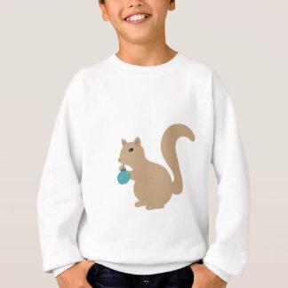 Sweatshirt Écureuil d'hiver avec l'habillement d'ornement de