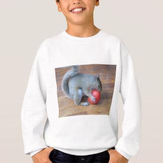 Sweatshirt écureuil jouant avec le tomatoe