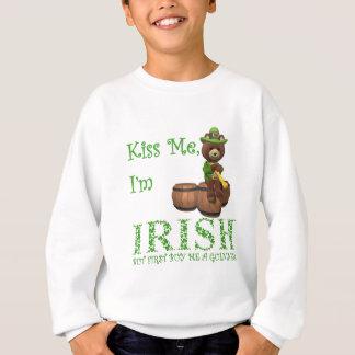 Sweatshirt Embrassez moi que je suis irlandais, mais le