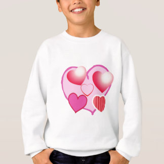 Sweatshirt Expression rose d'amour - coeurs