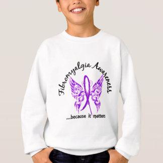Sweatshirt Fibromyalgie grunge du papillon 6,1 de tatouage