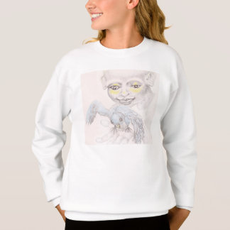 Sweatshirt fille avec l'oiseau