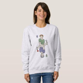 Sweatshirt Fille de carte de jeu avec la fleur