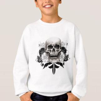 Sweatshirt Fleur et crâne