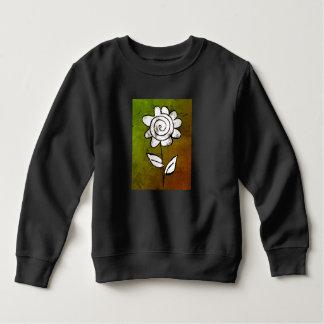 Sweatshirt Fleur mono d'impression
