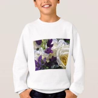Sweatshirt Fleurs pourpres et blanches