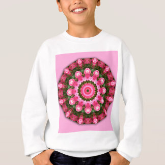 Sweatshirt Fleurs roses, mandala-style floral