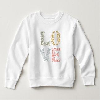 Sweatshirt floral tiré par la main coloré de
